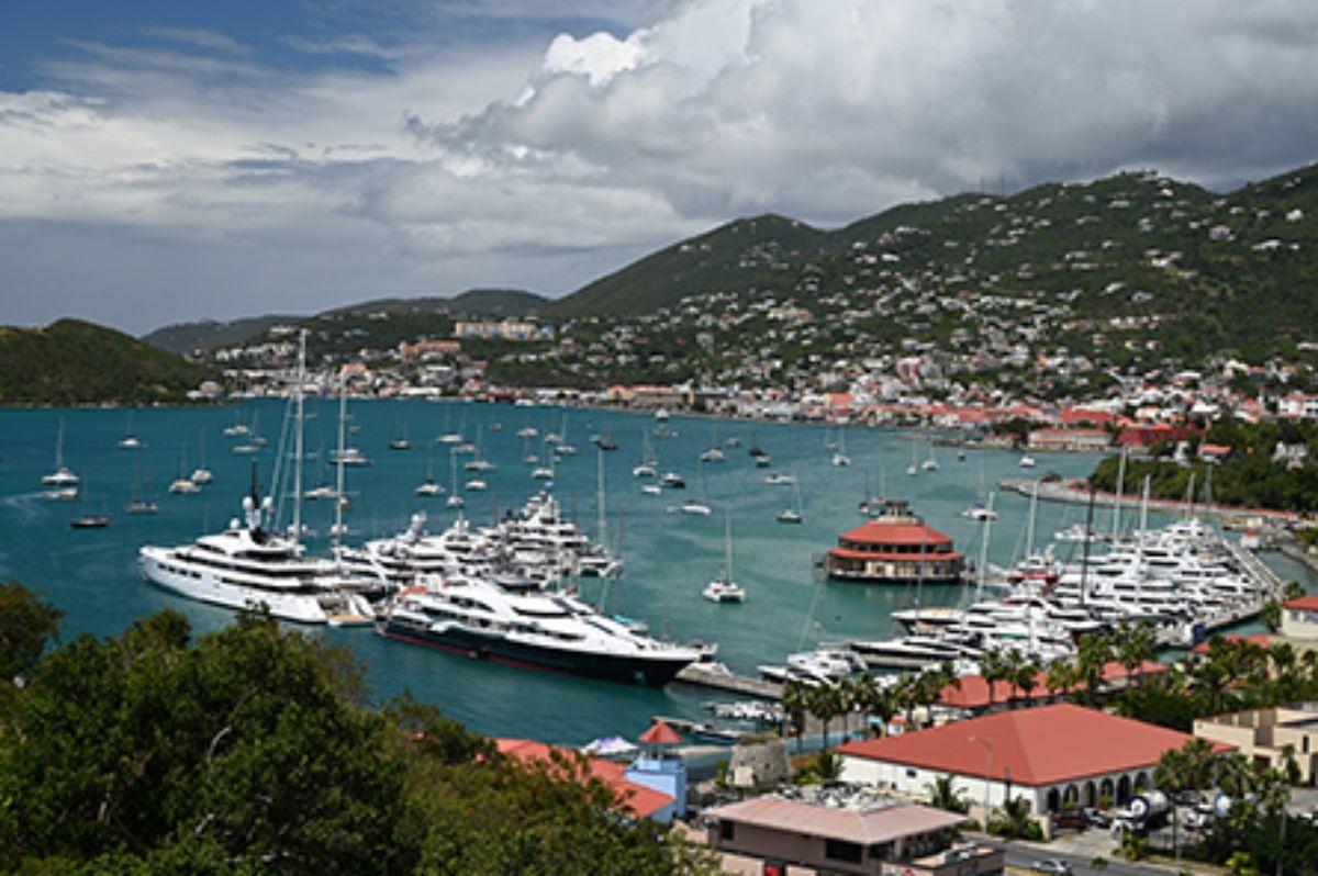 08-2020 - Yacht Haven Grande - St. Thomas - Island and Marina Aerial