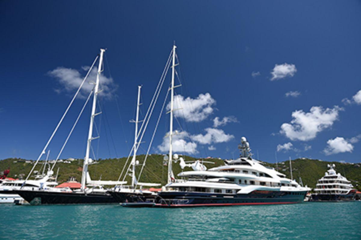 08-2020 - Yacht Haven Grande - St. Thomas - Mega and Sail at Dock