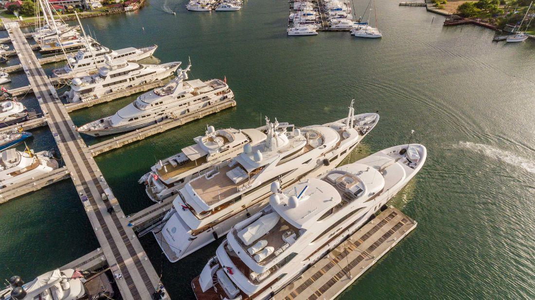 1-Rodney-Bay-Marina-St.-Lucia-Marina-Megayachts at Marina