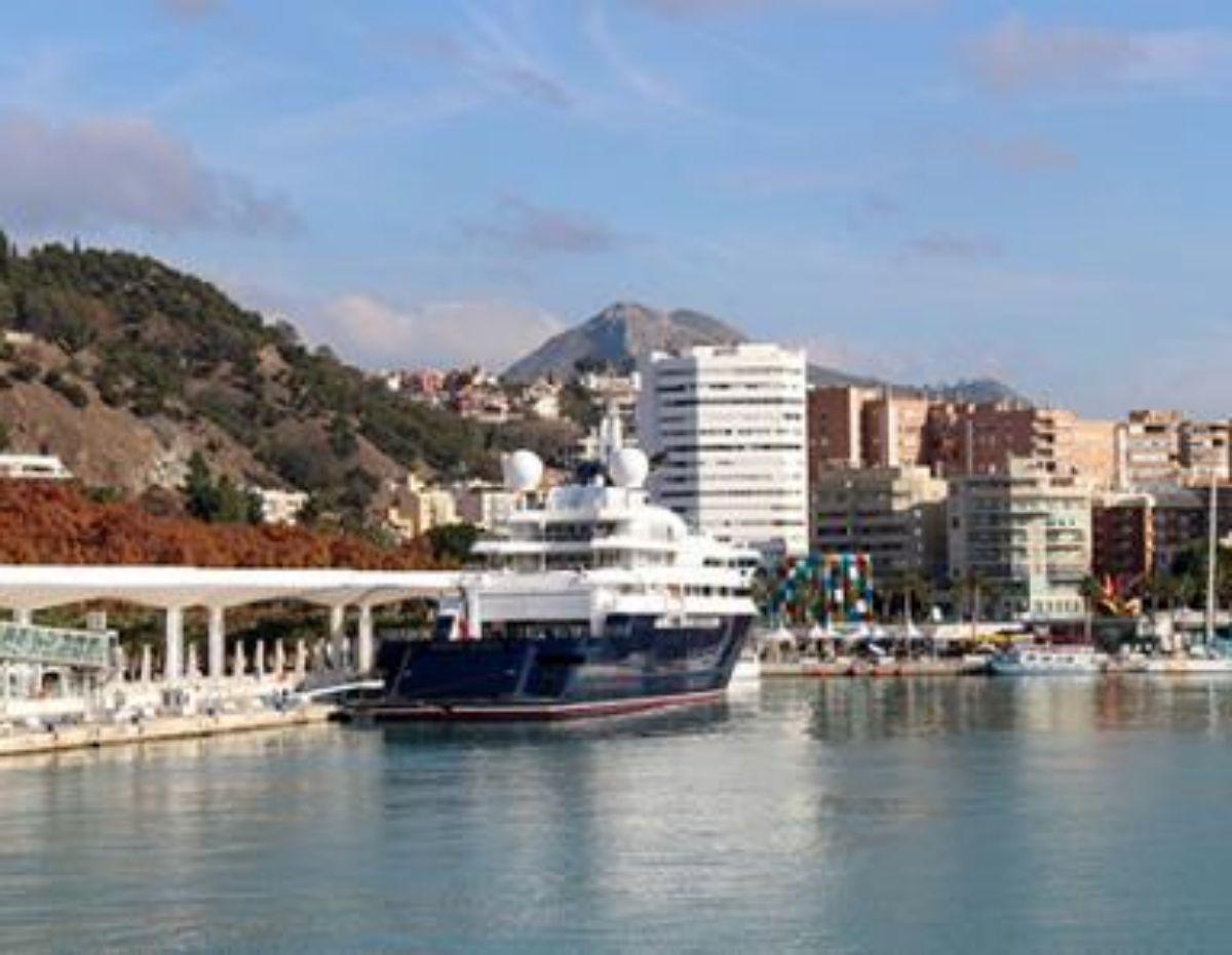 2020- IGY Malaga Marina in Spain Megayacht at Port