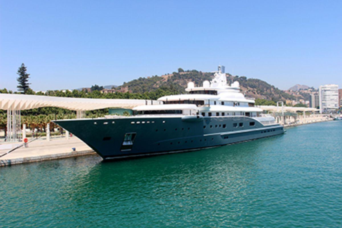 2020- IGY Malaga Marina in Spain Megayacht in Marina