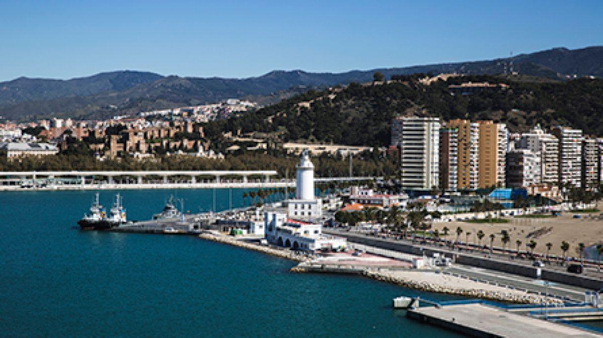 2020-IGY Malaga Marina in Spain View of Marina With Mountains behind