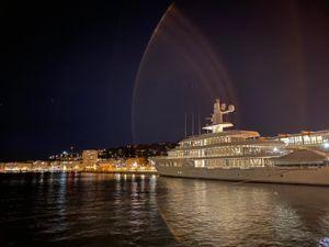 2020 - Sete Marina South of France Marina Sete marina at night w lens exposure