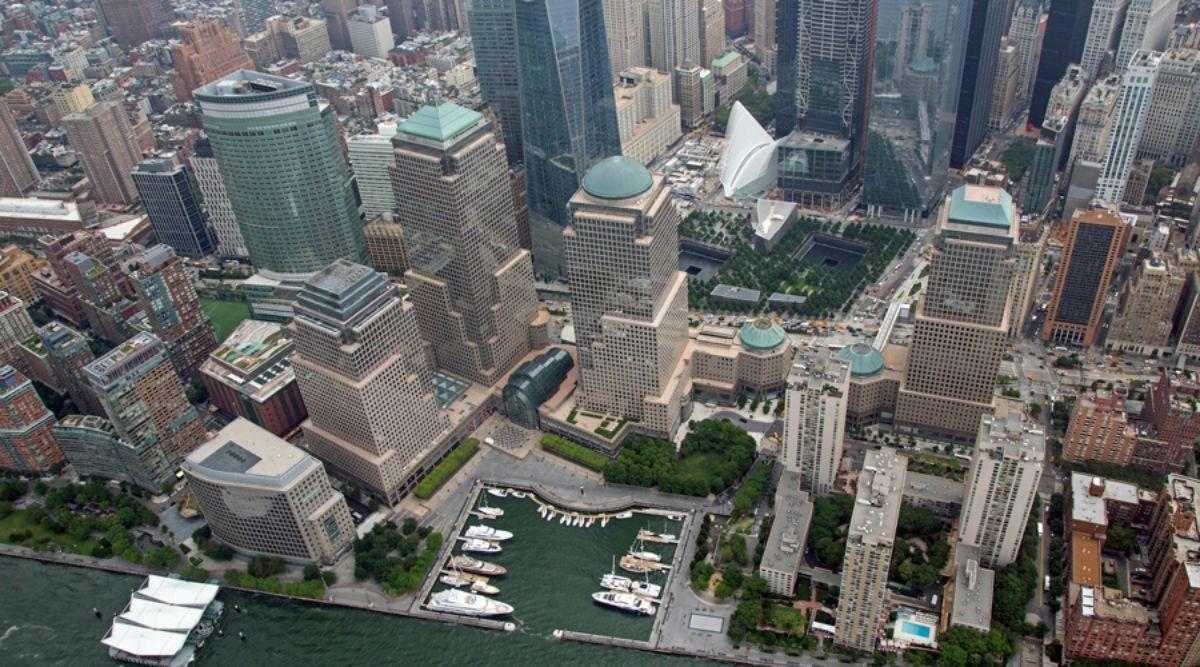 North Cove Marina at Brookfield Place - Manhattan New York City Marina - Aerial of Marina