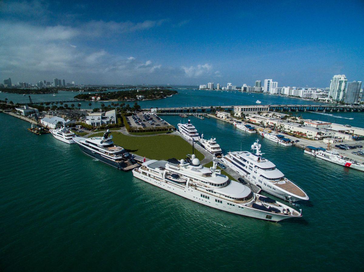 One Island Park - Miami Beach Marina - Aerial2