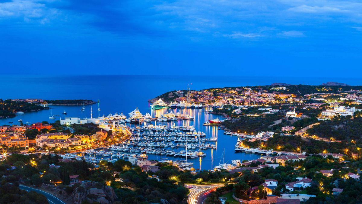 Porto Cervo Marina - Sardinia Italy Mediterranean Marina - Marina Night Shot -1.93MB