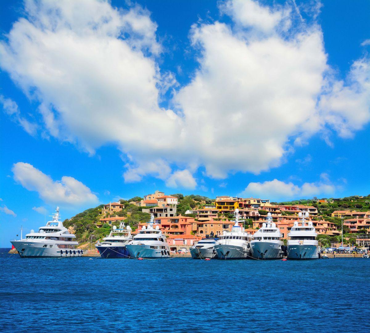 Porto Cervo Marina - Sardinia Italy Mediterranean Marina - Megayacht Bows -1.79MB