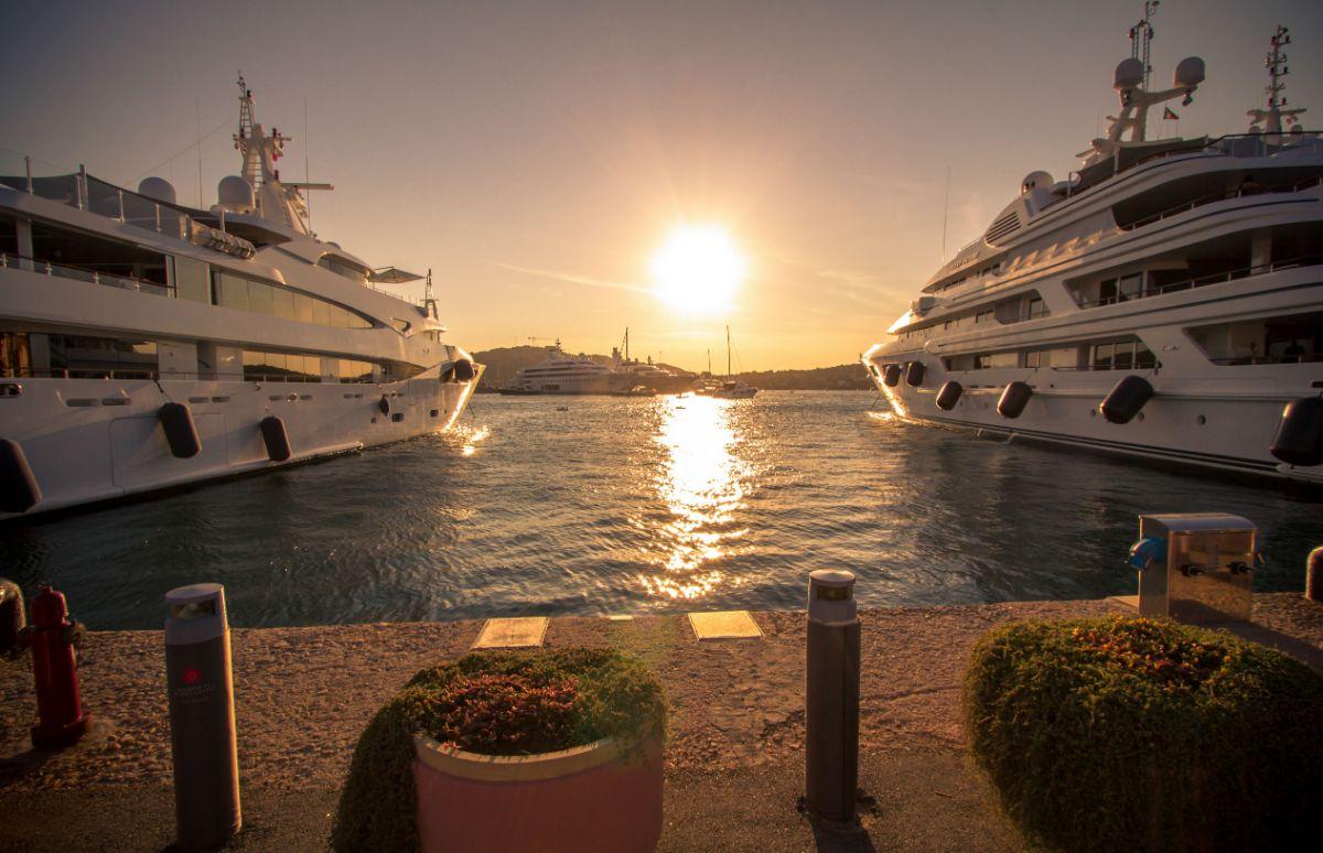 Porto Cervo Marina - Sardinia Italy Mediterranean Marina - Sunset at Marina -1.96MB