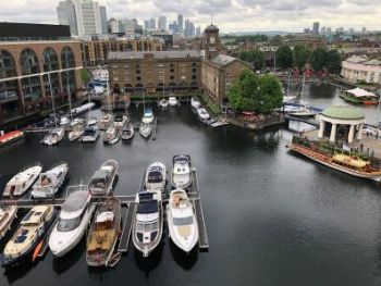 St.-Katharine-Docks-Aerial-of-2-Basins-in-Marina