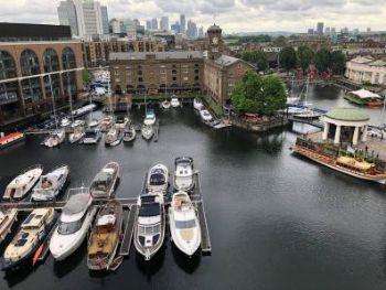 St.-Katharine-Docks-Aerial-of-2-Basins-in-Marina