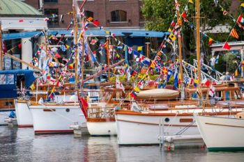 St.-Katharine-Docks-Bows-of-classic-boats