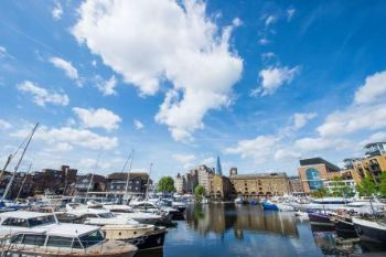 St.-Katharine-Docks-Marina-View-from-Dock