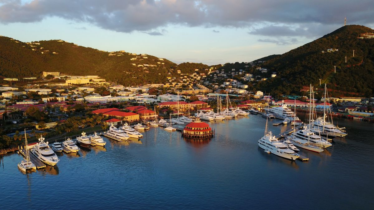 Yacht Haven Grande marina in the usvi