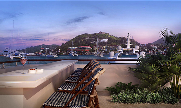 Navy Beach Sky Deck Isle de Sol