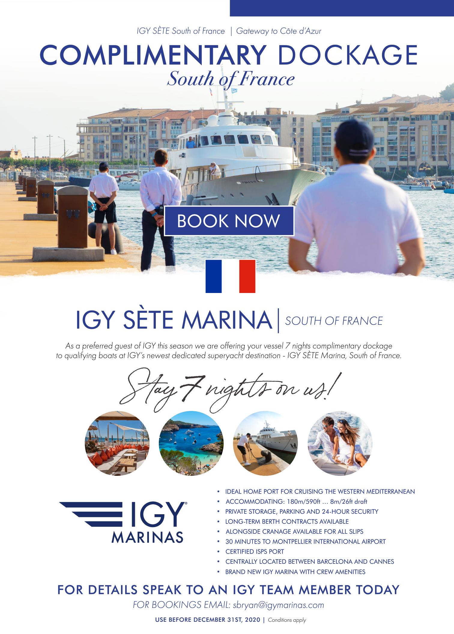 IGY Sete Marina Dockage Special
