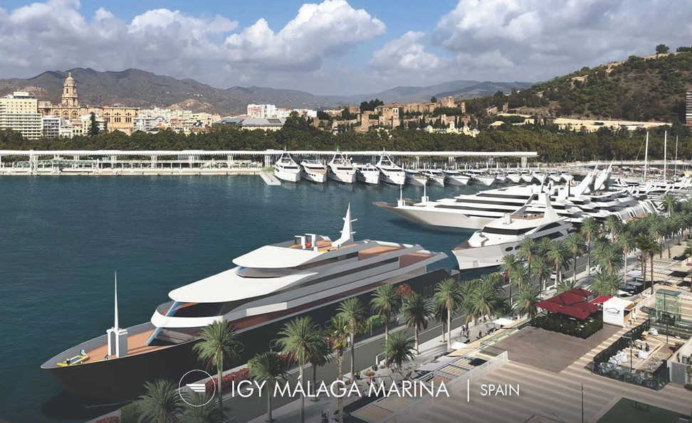 Malaga Marina Superyacht Rendering