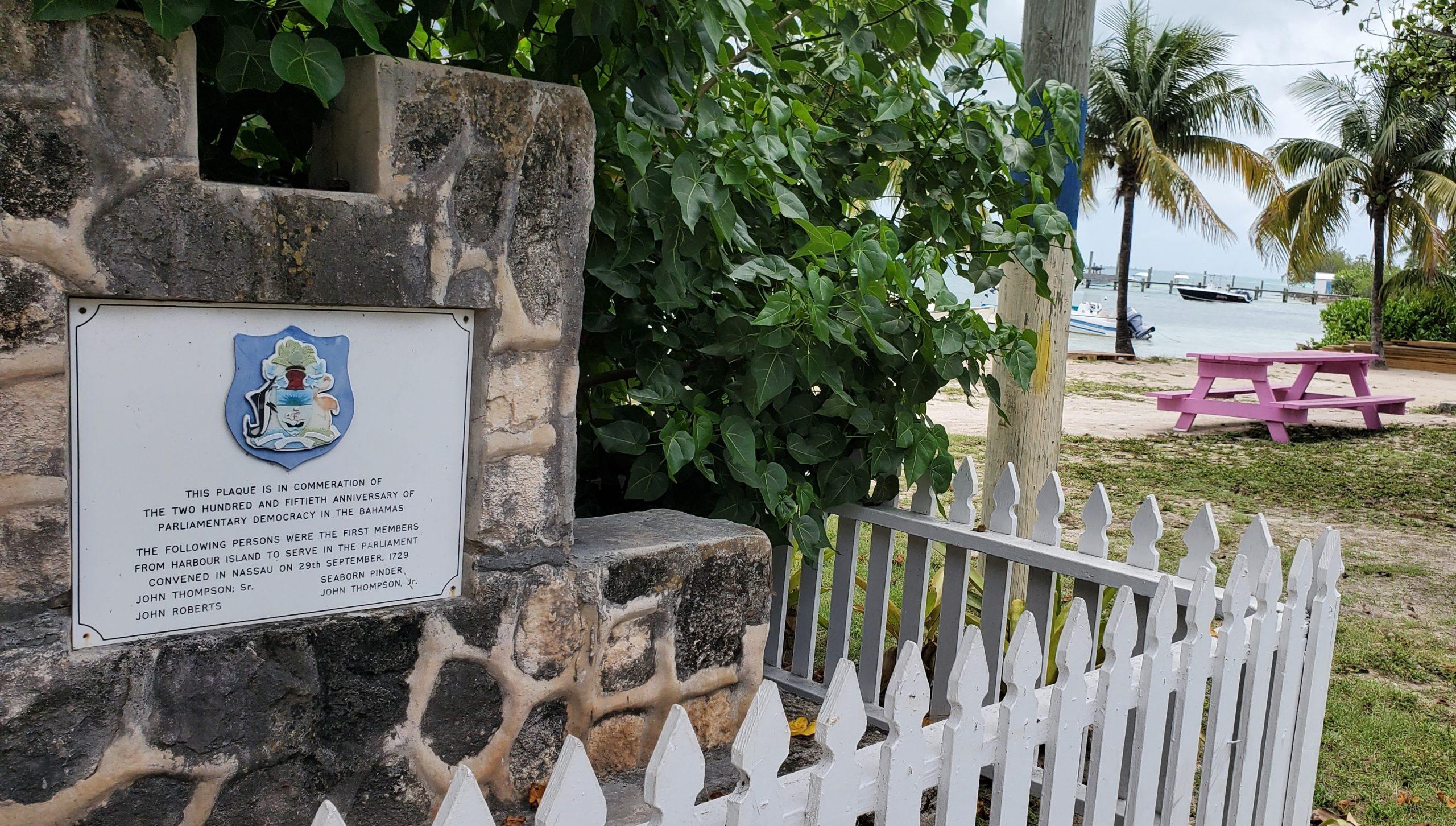 07-2021 Briland Club Marina The Bahamas sign 250 years